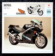 Collection Fiches ATLAS - MOTO - HONDA VFR 750 F - 1992 - Autres