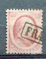 P-B 1864 Yv. N°  5   (o)  10c  Guillaume III Cote 10 Euro BE  2 Scans - Gebraucht