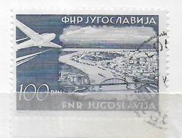 JUGOSLAVIA - 1952 - SERIE ORDINARIA POSTA AEREA 100 D. - USATO BORDO DI FOGLIO (YVERT AV40 - MICHEL 652) - Poste Aérienne