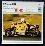 Collection Fiches ATLAS - MOTO - KAWASAKI EGLI 1000 BOL D'OR - G. GODIER A. GENOUD - 1974 - Autres