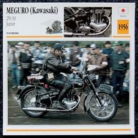Collection Fiches ATLAS - MOTO - MEGURO KAWASAKI 250 S3 Junior - 1956 - Autres