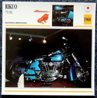 Collection Fiches ATLAS - MOTO - RIKUO 750 RX - 1960 - Autres