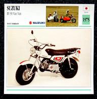 Collection Fiches ATLAS - MOTO - SUZUKI RV 90 Van Van - Side-car - 1975 - Autres