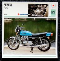 Collection Fiches ATLAS - MOTO - SUZUKI GS 750 - 1976 - Autres