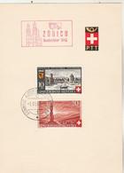 Suisse FDC Yvert 378 Et 379 Fête Nationale Cachet Schweiz Automobil 1/8/1942 Sur Feuillet - FDC
