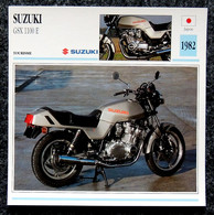 Collection Fiches ATLAS - MOTO - SUZUKI GSX 1100 E - 1982 - Autres
