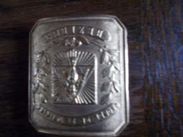 Tres Rare Boucle Ceinturon  1870 BATAILLON SCOLAIRE - Uniform