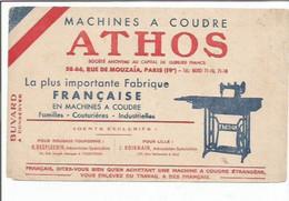 BUVARD  ANCIEN @@ Machine à Coudre ATHOS  @@@  COUTURE Couturiere - M