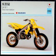 Collection Fiches ATLAS - MOTO - SUZUKI 200 XF 5 Deux Roues Motrices - Cross - 1991 - Autres