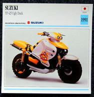 Collection Fiches ATLAS - MOTO - SUZUKI YF 425 Ugly Duck - 1991 - Autres