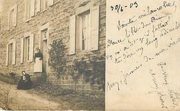 Carte Postale Photo Précurseur Postée à SAINT SYMPHORIEN SUR COISE En 1903 - Saint-Symphorien-sur-Coise