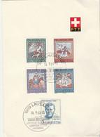 Suisse FDC Yvert Série 769 à 773 Pro Patria Lausanne 14/9/1966 Sur Feuillet - FDC