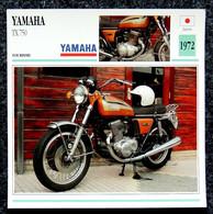 Collection Fiches ATLAS - MOTO - YAMAHA TX 750 - 1972 - Autres