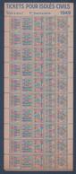 Rationnement.Carte D'alimentation.Ravitaillement.Tickets Pour Isolés Civils - Unclassified