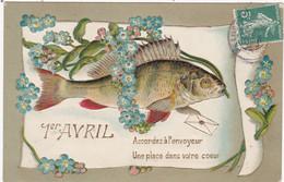 Fêtes : 1er Avril - Poisson D'Avril : GAUFRE :  Poisson Humanisé Portant Un Message : Accordez à L'envoyeur ...... : - 1 De April (pescado De Abril)