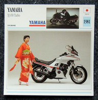 Collection Fiches ATLAS - MOTO - YAMAHA XJ 650 Turbo - 1981 - Kimono - Autres