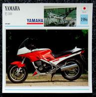 Collection Fiches ATLAS - MOTO - YAMAHA FJ 1100 - 1984 - Autres