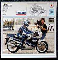 Collection Fiches ATLAS - MOTO - YAMAHA 1000 FZR GENESIS - 1987 - Autres