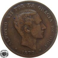 LaZooRo: Spain 10 Centimos 1877 VF / XF - [ 1] …-1931 : Kingdom