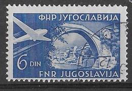 JUGOSLAVIA - 1951 - SERIE ORDINARIA POSTA AEREA 6 D. - USATO (YVERT AV 35 - MICHEL 647) - Poste Aérienne