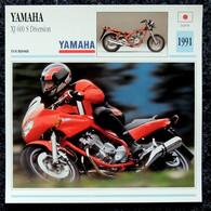 Collection Fiches ATLAS - MOTO - YAMAHA XJ 600 S Diversion - 1991 - Autres