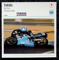 Collection Fiches ATLAS - MOTO - YAMAHA FZR 750 R - 24h Du MANS - 1991 - Autres