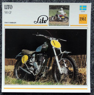 Collection Fiches ATLAS - MOTO - LITO 500 GP - Cross - 1961 - Autres