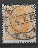SVEZIA - 1910 - ORDINARIO FIL. CORONA - 2 KR. - USATO (YVERT 56 - MICHEL 58) - Oblitérés