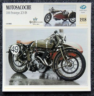 Collection Fiches ATLAS - MOTO - MOTOSACOCHE 1000 Prototype 2C9-BS - Side-car - 1918 - Autres