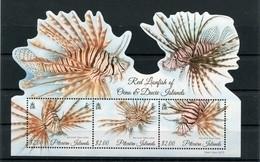 """Pitcairn - Block Nr. 68 - """"Rotfeuerfisch"""" ** / MNH (aus Dem Jahr 2015) - Stamps"""
