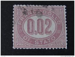 """ITALIA Regno-1875- """"Servizio Di Stato"""" £. 0,02 US° (descrizione) - 1861-78 Vittorio Emanuele II"""