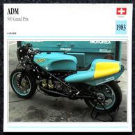 Collection Fiches ATLAS - MOTO - ADM 500 Grand Prix - 1983 - Autres
