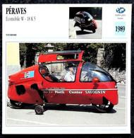 Collection Fiches ATLAS - MOTO - PÉRAVES Écomobile W 18K5 - 1989 - Autres