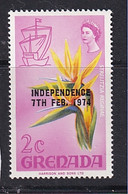 Grenada: 1974   Pictorial 'Independence' OVPT   SG595    2c     MNH - Grenada (1974-...)