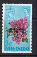 Grenada: 1974   Pictorial 'Independence' OVPT   SG596    3c     MNH - Grenada (1974-...)