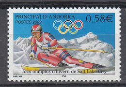 Andorra Fr. 2002  Olympic Wintergames Salt Lake City 1v ** Mnh (50227) - French Andorra