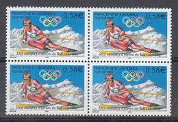 Andorra Fr. 2002  Olympic Wintergames Salt Lake City 1v Bl Of 4 ** Mnh (50227A) - French Andorra