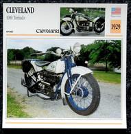 Collection Fiches ATLAS - MOTO - CLEVELAND 1000 Tornado - 1929 - Autres