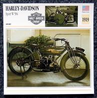 Collection Fiches ATLAS - MOTO - HARLEY-DAVIDSON Sport W 584 - 1919 - Autres