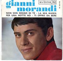 Disque - Gianni Morandi - Non Son Degno Di Te - RCA-Victor 45 - 86420 - France 1965 - Rock