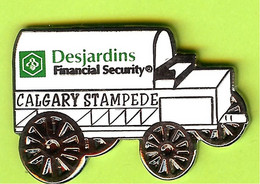 Pin's Charrette Dilligence Calgary Stampede Desjardins Financial Security - 6E11 - Transport Und Verkehr