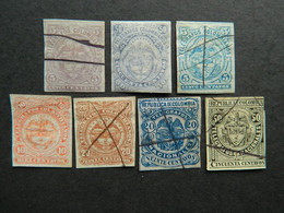 Colombia Lot Telegraph Stamps / Lote Sellos Telegrafos - Kolumbien