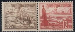 DR W 131, Postfrisch *, WHW Schiffe 1937 - Se-Tenant