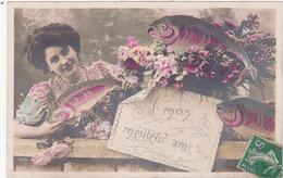 Fêtes : 1er Avril - Poisson D'Avril : Fantaisie : Femme Et Poissons : à Mon Meilleur Ami : - 1 De April (pescado De Abril)
