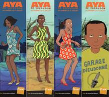 4 Marque Page AYA De Yopougon Abouet Oubrerie - Books, Magazines, Comics