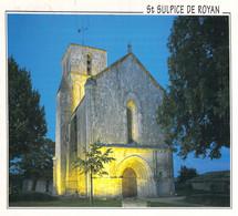 17 - Saint Sulpice De Royan - Eglise Romane Du XIIe Siècle - Vue De Nuit, Portail Et Clocher - Sonstige Gemeinden