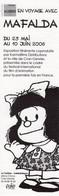 Marque Page Mafalda Quino Expo 2006 - Books, Magazines, Comics