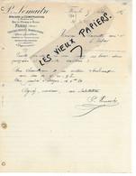 61 - Orne - FLERS - Facture LEMAITRE - Ateliers De Construction, Machines Agricoles - 1905 - REF 164B - 1900 – 1949
