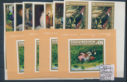 HUNGARY YVERT 1865/71 + MS 62 IMPERFORATED MNH X 4 - Hungary