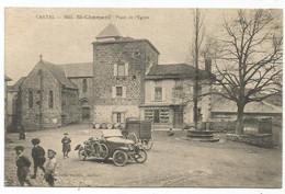 SAINT CHAMANT CANTAL PLACE DE L'EGLISE - Other Municipalities